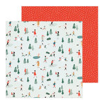 Crate Paper - Merry Days Collection - Christmas - 12 x 12 Double Sided Paper - Frosty Days