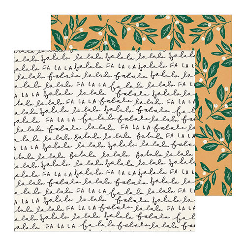 Crate Paper - Merry Days Collection - Christmas - 12 x 12 Double Sided Paper - Mistletoe