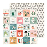 Crate Paper - Merry Days Collection - Christmas - 12 x 12 Double Sided Paper - Stockings