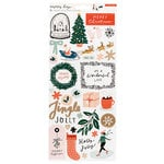 Crate Paper - Merry Days Collection - Christmas - Cardstock Stickers with Foil Accents