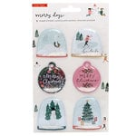 Crate Paper - Merry Days Collection - Christmas - Shaker Stickers with Glitter Accents