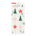 Crate Paper - Merry Days Collection - Christmas - Epoxy Paper Clips