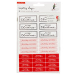 Crate Paper - Merry Days Collection - Christmas - Cardstock Stickers - Waterfall