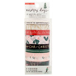 Crate Paper - Merry Days Collection - Christmas - Washi Tape with Gold Foil Accents