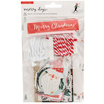 Crate Paper - Merry Days Collection - Christmas - Tag Kit with Glitter Accents