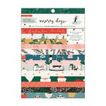 Crate Paper - Merry Days Collection - Christmas - 6 x 8 Paper Pad with Foil Accents