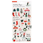 Crate Paper - Merry Days Collection - Christmas - Puffy Stickers