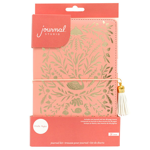 Crate Paper - Journal Studio Collection - Journal Kit - Swan with Foil Accents