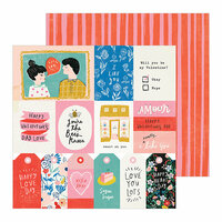 Crate Paper - La La Love Collection - 12 x 12 Double Sided Paper - In Love