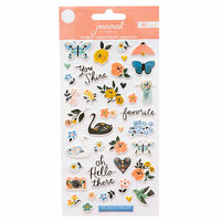Crate Paper - Journal Studio Collection - Puffy Stickers - Swan
