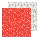 Crate Paper - La La Love Collection - 12 x 12 Double Sided Paper - Heart You