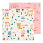 Crate Paper - La La Love Collection - 12 x 12 Double Sided Paper - Amour