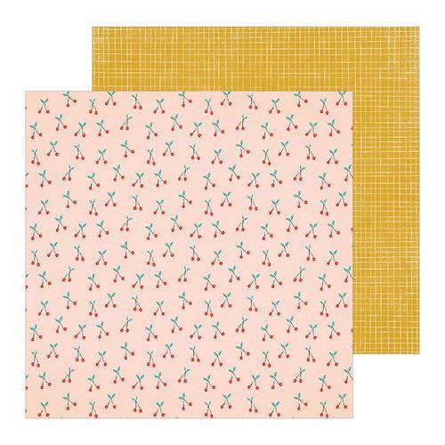 Crate Paper - La La Love Collection - 12 x 12 Double Sided Paper - Sugar Sugar