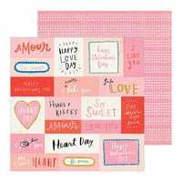 Crate Paper - La La Love Collection - 12 x 12 Double Sided Paper - Like You