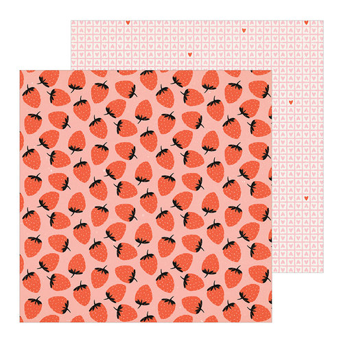 Crate Paper - La La Love Collection - 12 x 12 Double Sided Paper - Berry Sweet