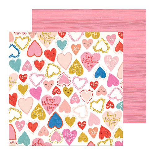 Crate Paper - La La Love Collection - 12 x 12 Double Sided Paper - Heartbeat