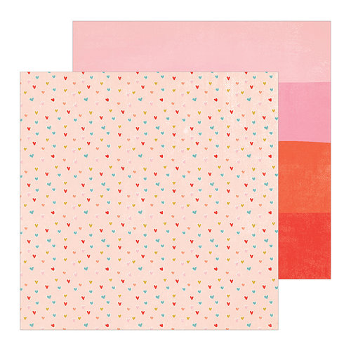 Crate Paper - La La Love Collection - 12 x 12 Double Sided Paper - Blush