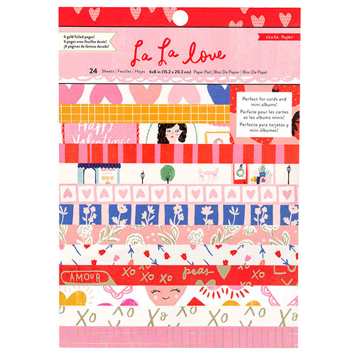 Crate Paper - La La Love Collection - 6 x 8 Paper Pad