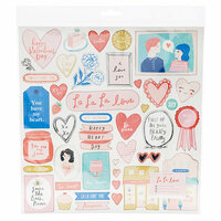 Crate Paper - La La Love Collection - 12 x 12 Chipboard Stickers