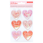 Crate Paper - La La Love Collection - Shaker Stickers