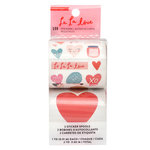 Crate Paper - La La Love Collection - Sticker Roll with Glitter Accents