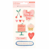 Crate Paper - La La Love Collection - Puffy Stickers with Embossed Accents
