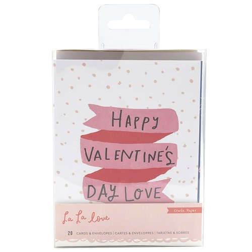 Crate Paper - La La Love Collection - Card Set
