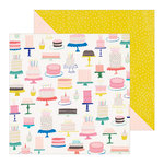 Crate Paper - Hooray Collection - 12 x 12 Double Sided Paper - Cake
