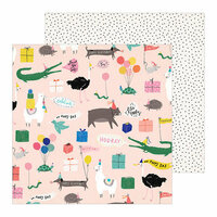 Crate Paper - Hooray Collection - 12 x 12 Double Sided Paper - Party
