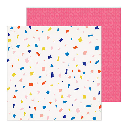 Crate Paper - Hooray Collection - 12 x 12 Double Sided Paper - Confetti