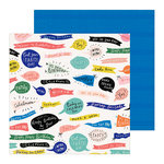 Crate Paper - Hooray Collection - 12 x 12 Double Sided Paper - Woo Hoo