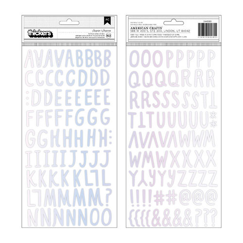 Crate Paper - Hooray Collection - Thickers - Foam - Holographic Foil - Alphabet - Surprise
