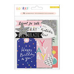 Crate Paper - Hooray Collection - Ephemera Pack with Glitter Accents