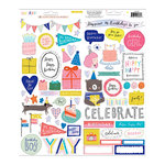 Crate Paper - Hooray Collection - Cardstock Stickers with Holographic Foil Accents