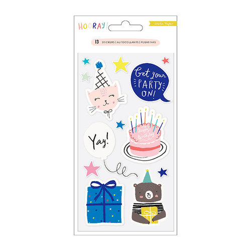 Crate Paper - Hooray Collection - Embossed Puffy Stickers