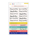 Crate Paper - Hooray Collection - Cardstock Stickers with Foil and Glitter Accents - Phrases