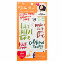 American Crafts - Sticker Book with Foil Accents - Amy Tan