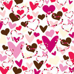 American Crafts - Romance Collection - 12x12 Paper - Love Potion
