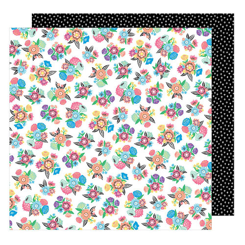 American Crafts - Sunshine and Good Times Collection - 12 x 12 Double Sided Paper - Love You Bunches