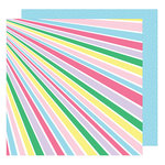 American Crafts - Sunshine and Good Times Collection - 12 x 12 Double Sided Paper - Shine Bright