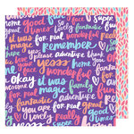 American Crafts - Sunshine and Good Times Collection - 12 x 12 Double Sided Paper - Yesss Please