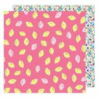 American Crafts - Sunshine and Good Times Collection - 12 x 12 Double Sided Paper - Squeeze The Day