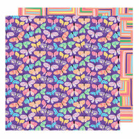 American Crafts - Sunshine and Good Times Collection - 12 x 12 Double Sided Paper - Flutter By