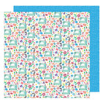 American Crafts - Sunshine and Good Times Collection - 12 x 12 Double Sided Paper - Sew Fun