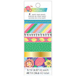 American Crafts - Sunshine and Good Times Collection - Washi Tape with Foil Accents