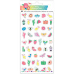 American Crafts - Sunshine and Good Times Collection - Mini Puffy Stickers