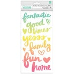 American Crafts - Sunshine and Good Times Collection - Thickers - Puffy - Phrase - Let's Dance