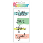 American Crafts - Sunshine and Good Times Collection - Wire Word Paper Clips