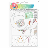 American Crafts - Sunshine and Good Times Collection - Watercolor Resist Tags