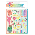 American Crafts - Sunshine and Good Times Collection - Sticker Book with Foil Accents